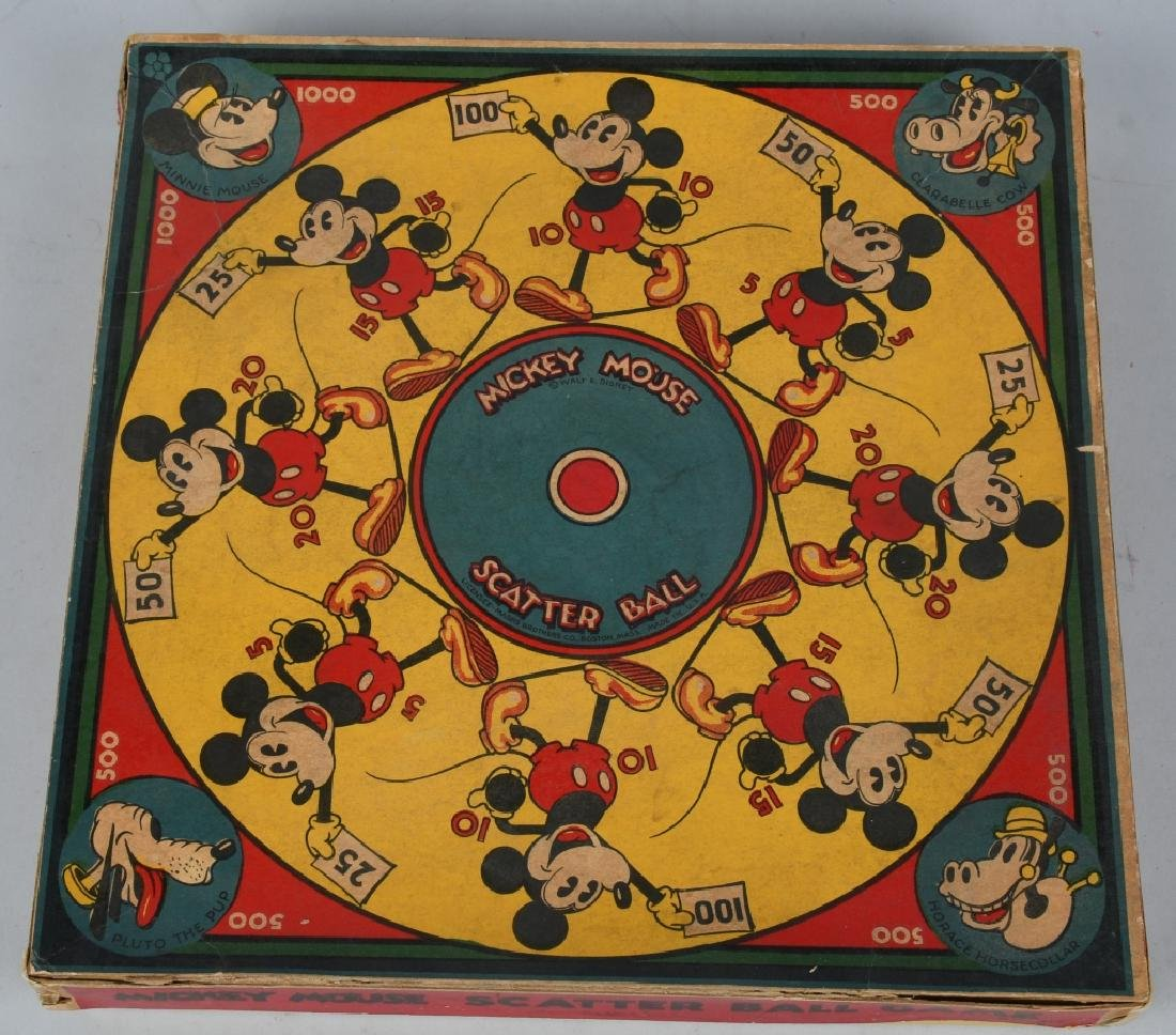 EARLY MICKEY MOUSE SCATTER BALL GAME
