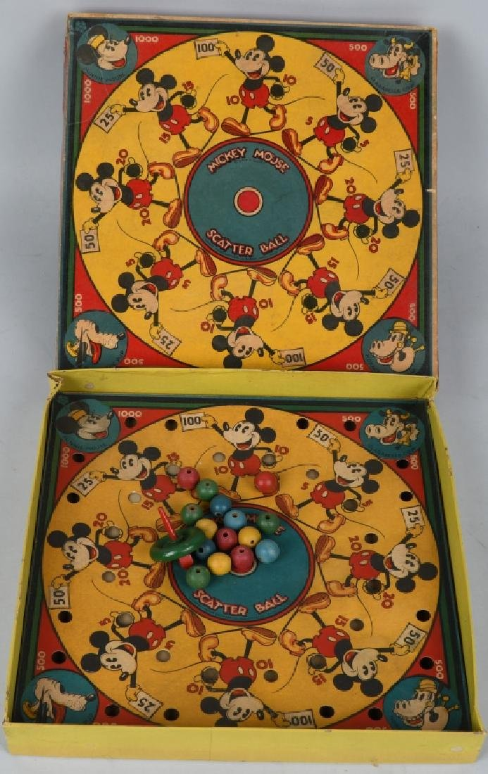 EARLY MICKEY MOUSE SCATTER BALL GAME - 2