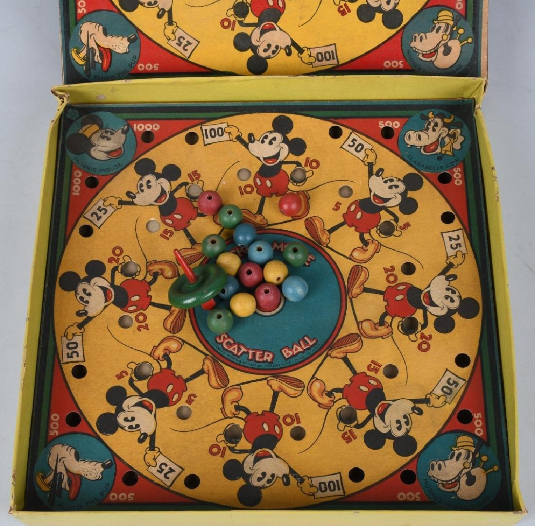 EARLY MICKEY MOUSE SCATTER BALL GAME - 3