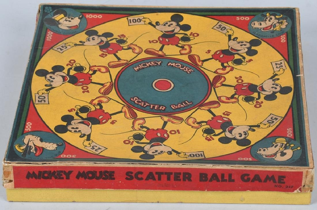 EARLY MICKEY MOUSE SCATTER BALL GAME - 4