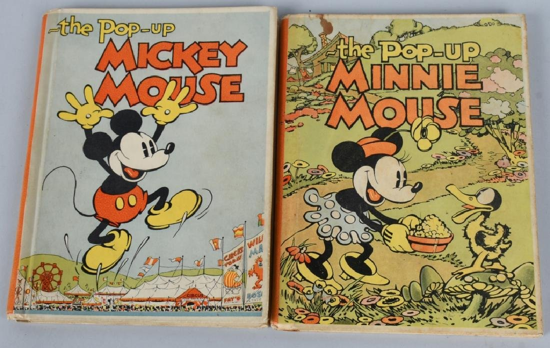 1933 MICKEY MOUSE & MINNIE MOUSE POP UP BOOKS