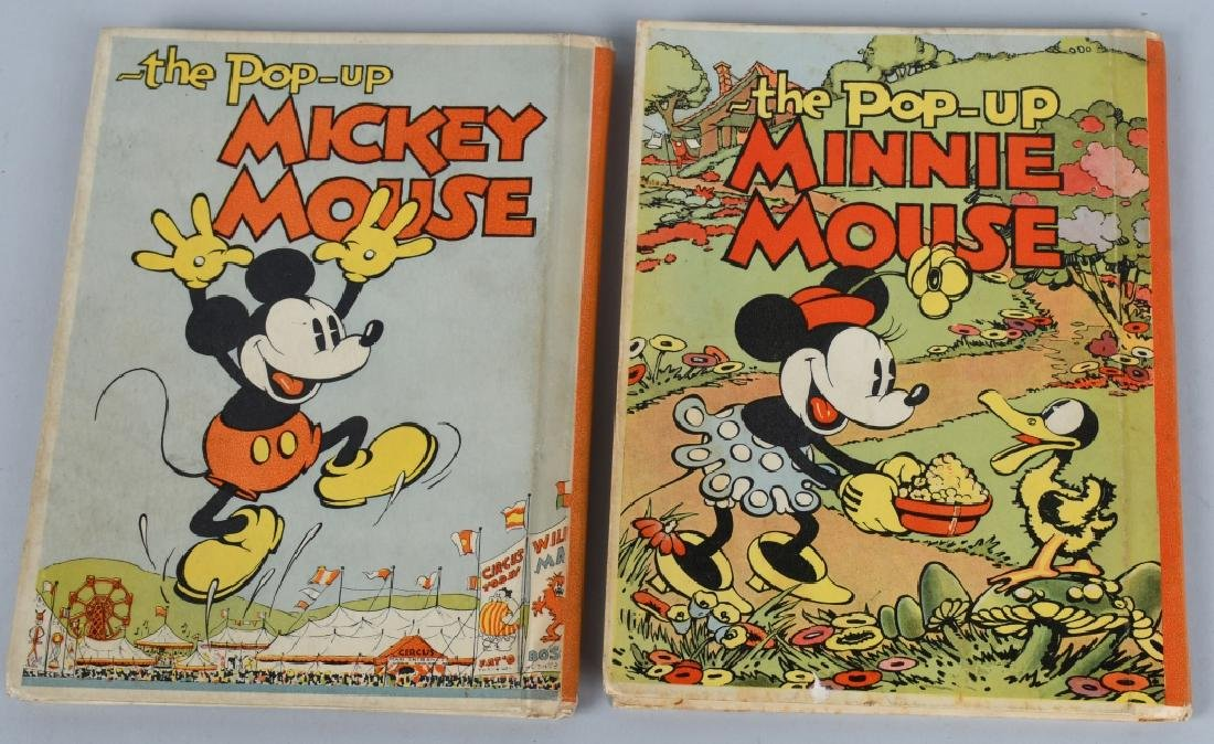 1933 MICKEY MOUSE & MINNIE MOUSE POP UP BOOKS - 2