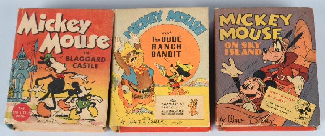 3- MICKEY MOUSE Whitman BIG LITTLE BOOKS