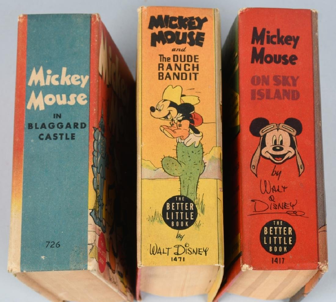 3- MICKEY MOUSE Whitman BIG LITTLE BOOKS - 3