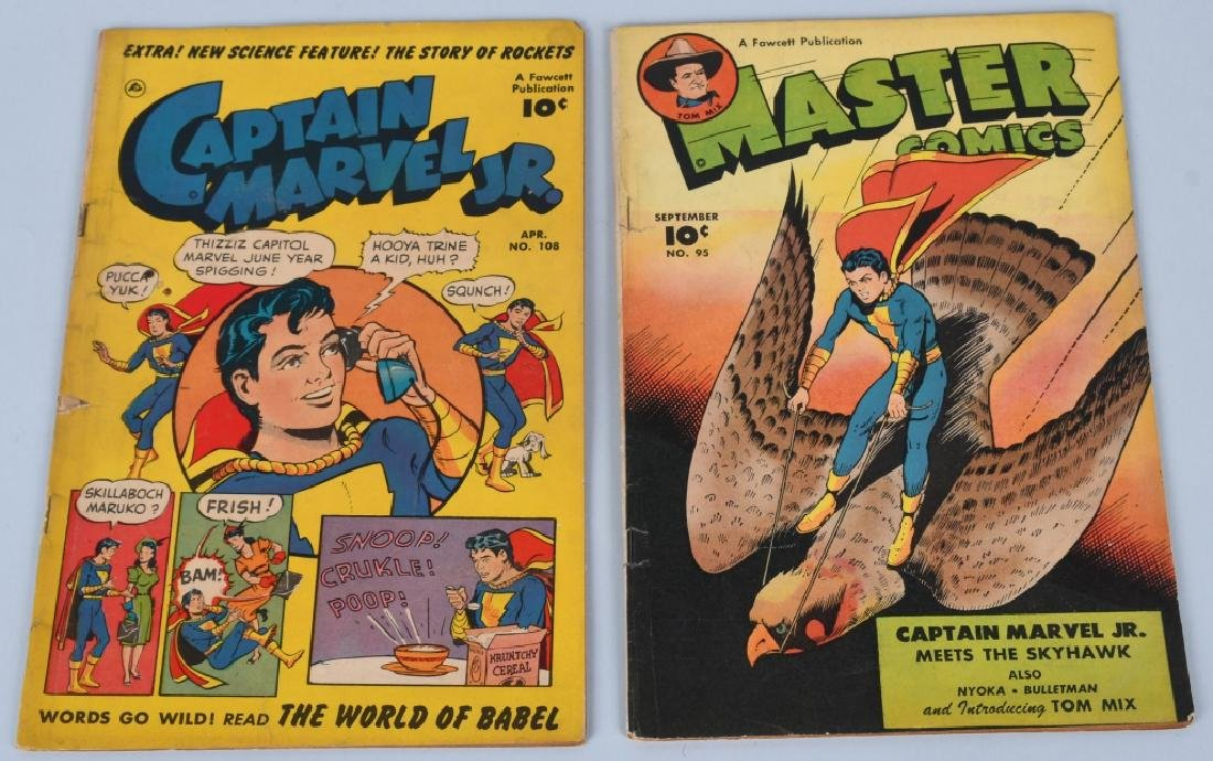 CAPTAIN MARVEL JR #108 & MASTER COMICS #95