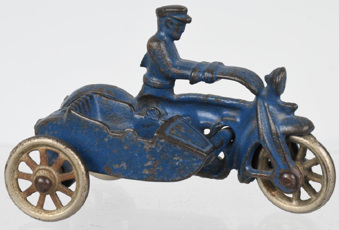 3 HUBLEY cast iron COP MOTORCYCLES & SIDECARS - 2