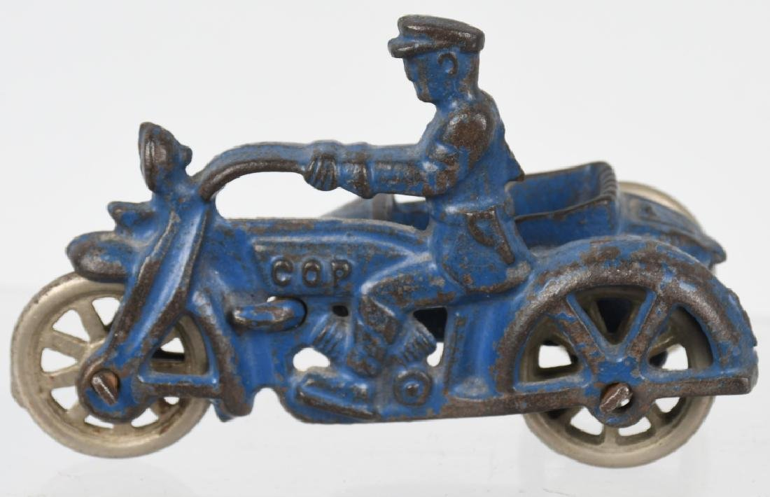 3 HUBLEY cast iron COP MOTORCYCLES & SIDECARS - 3
