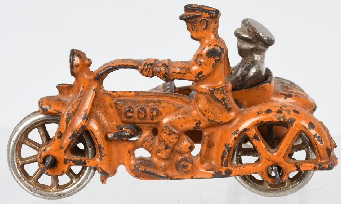 3 HUBLEY cast iron COP MOTORCYCLES & SIDECARS - 5
