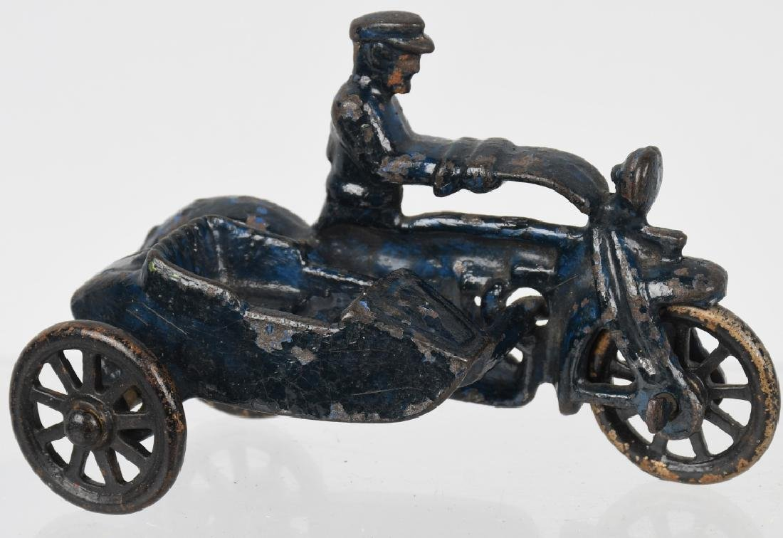 3 HUBLEY cast iron COP MOTORCYCLES & SIDECARS - 6