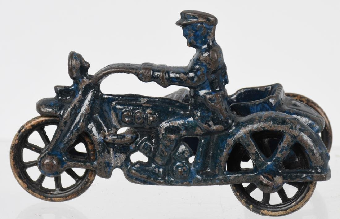 3 HUBLEY cast iron COP MOTORCYCLES & SIDECARS - 7