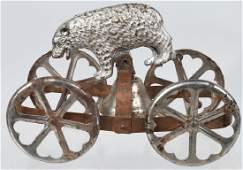 WATROUS cast iron POLAR BEAR BELL TOY