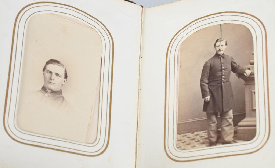 CIVIL WAR CDV PHOTO ALBUM w/ SOLDIERS
