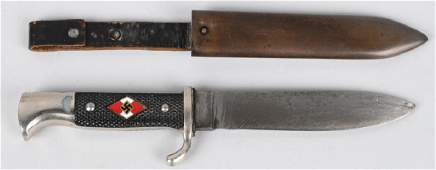 WWII NAZI GERMAN HITLER YOUTH KNIFE AND SHEATH