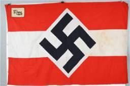 WWII NAZI GERMAN HITLER YOUTH UNIT MARKED FLAG