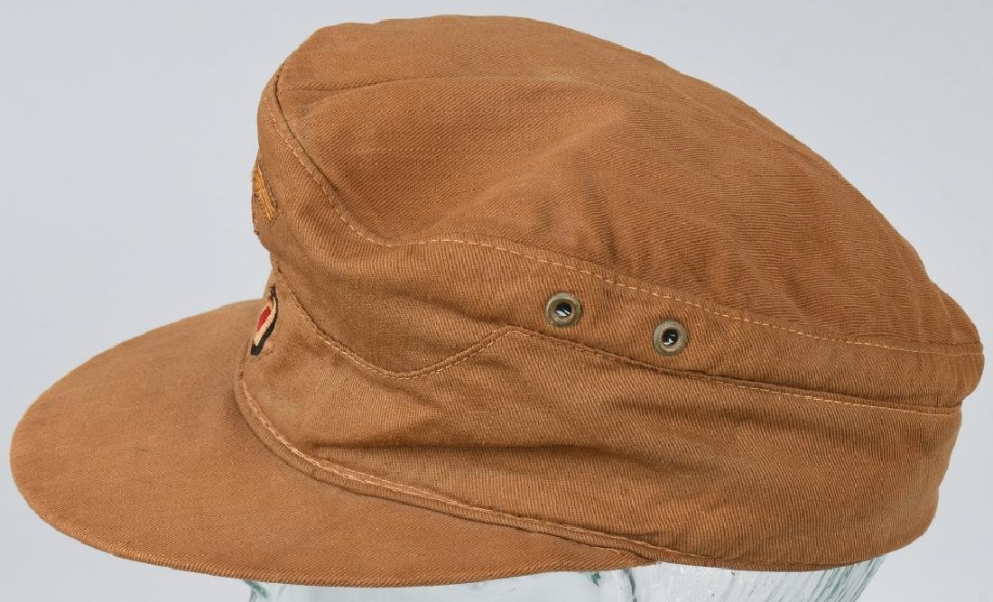 WWII NAZI GERMAN KREIGSMARINE TROPICAL FIELD CAP - 4