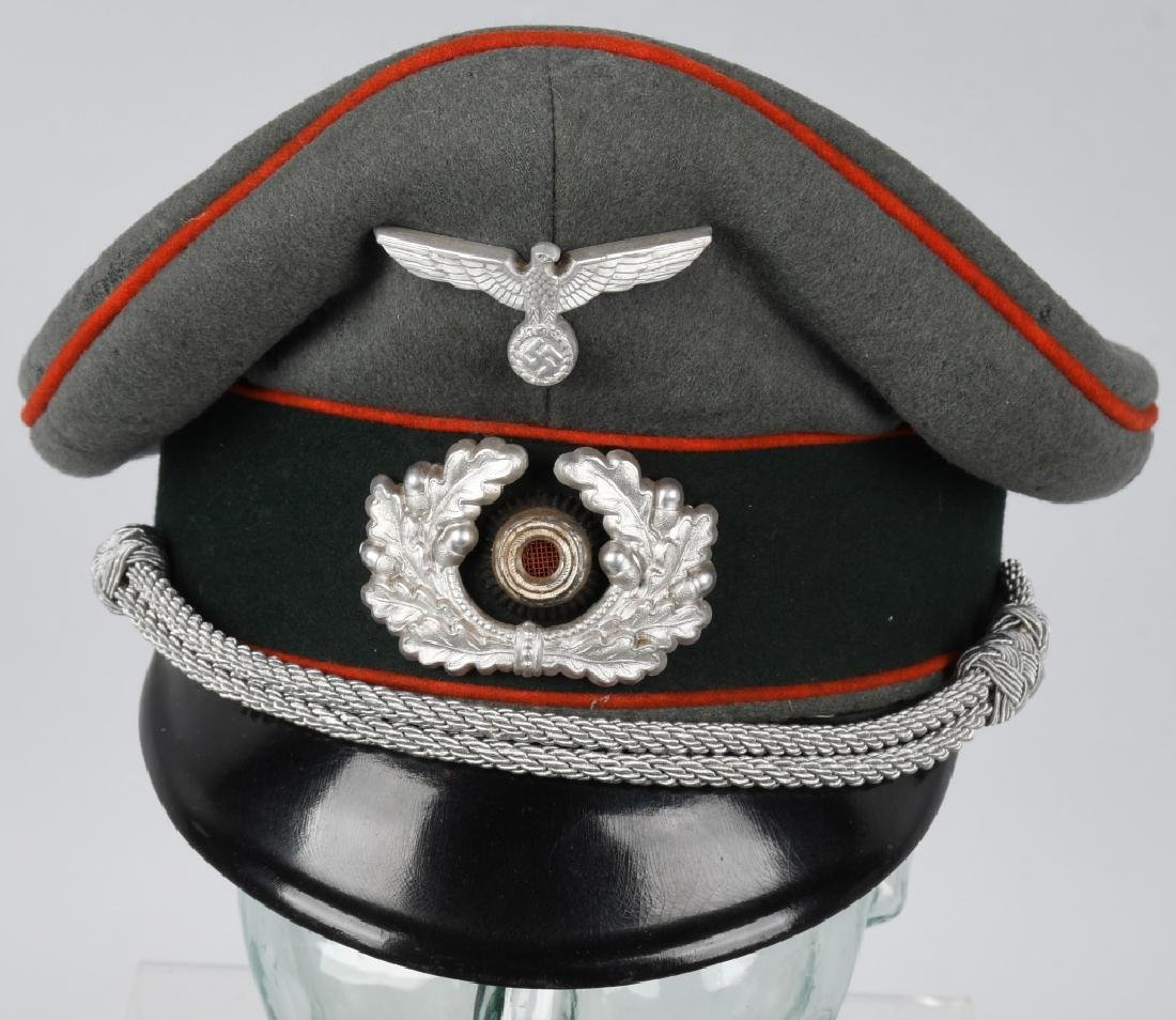 WWII NAZI GERMAN ARTILLERY OFFICER'S VISOR CAP