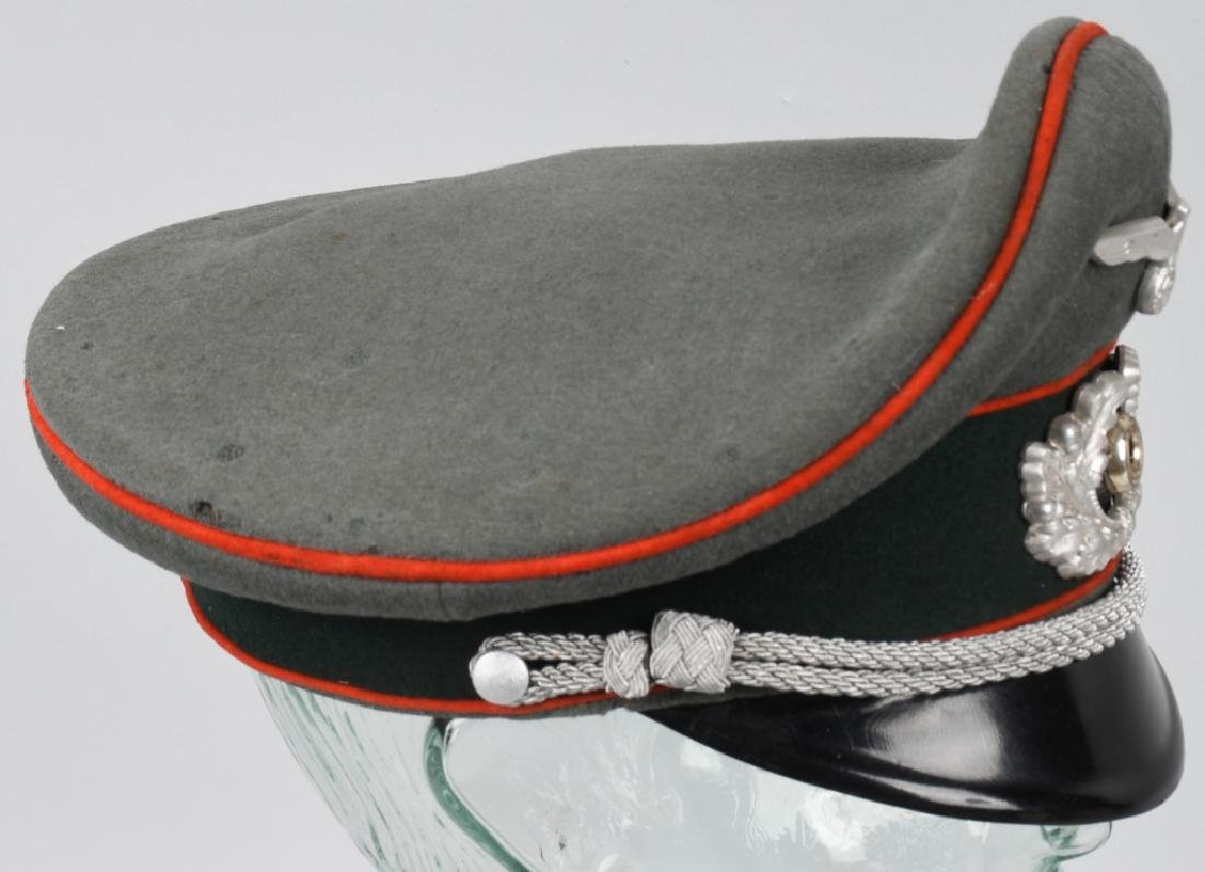 WWII NAZI GERMAN ARTILLERY OFFICER'S VISOR CAP - 6