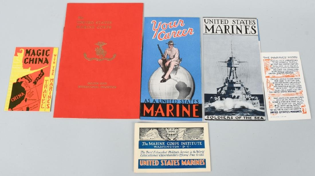 1939 GOLDEN GATE EXPOSITION US MARINES ITEMS