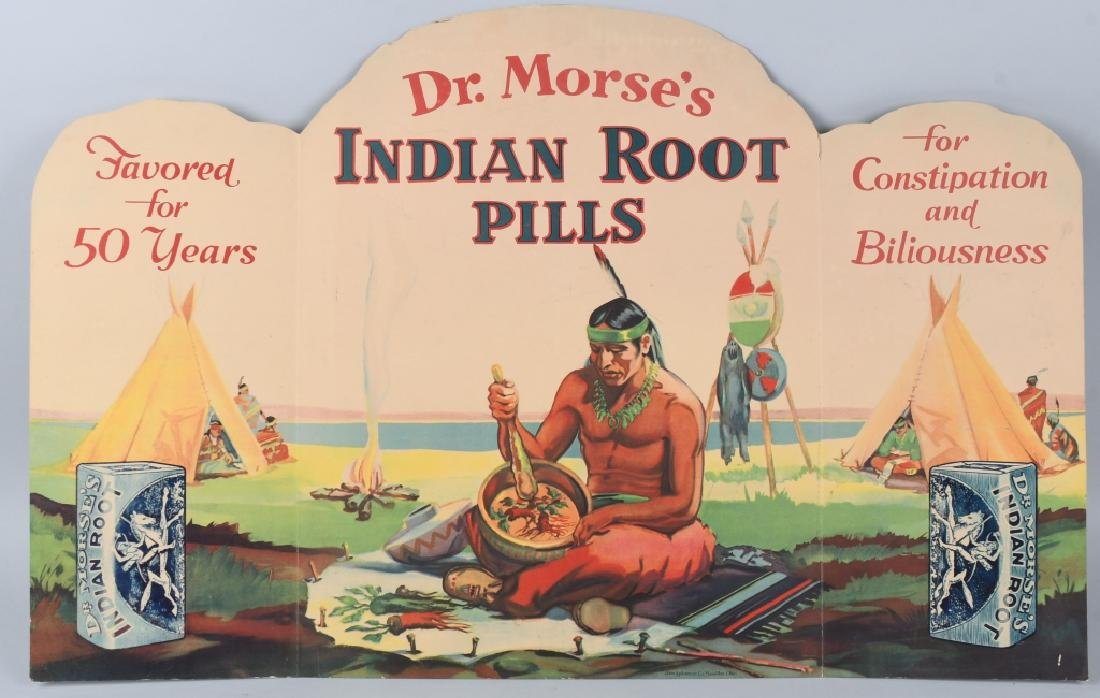 DR MORSE'S INDIAN ROOT PILLS COUNTER DISPLAY