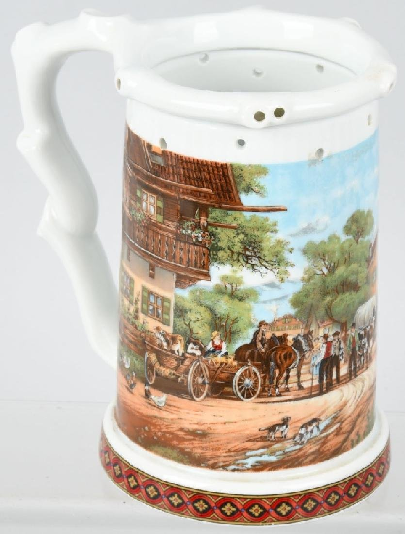 GERMAN BEER STEIN WITH NUDE WOMAN ON BOTTOM