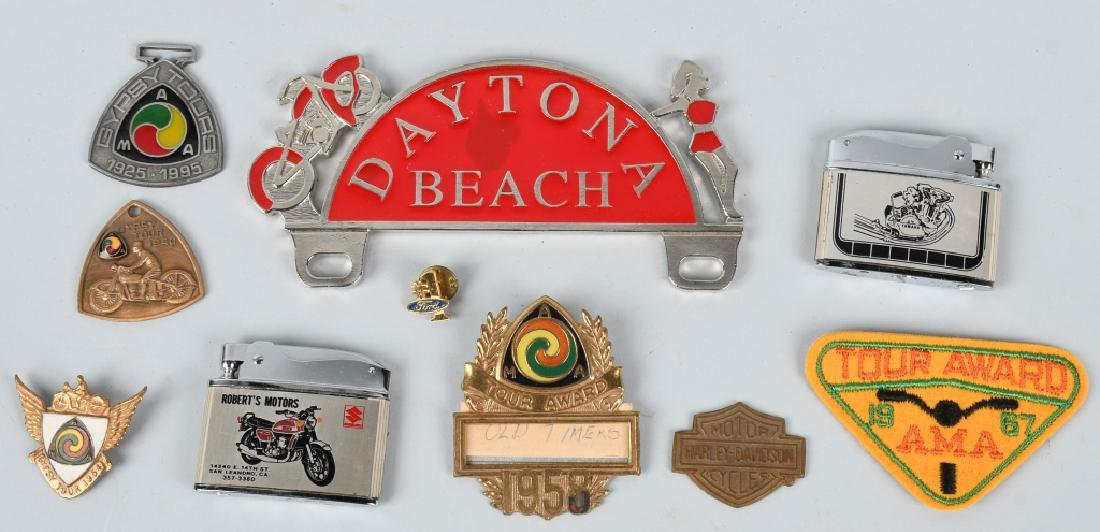 AMA BADGES & OTHER MOTORCYCLE ITEMS