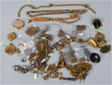 LARGE VICTORIAN GOLD FILLED JEWELRY GROUP