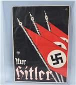 WWII NAZI GERMAN PROPAGANDA POSTER WITH FLAGS