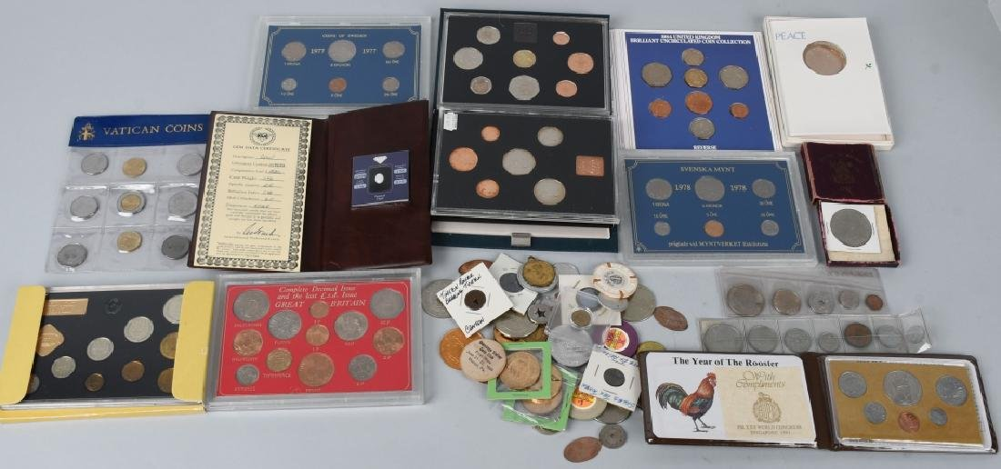 LARGE ESTATE LOT OF FORIEGN COINS