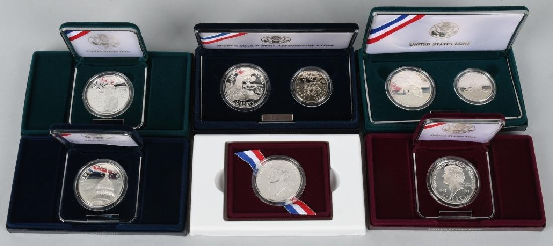 US MODERN COMMEMORATIVE SILVER DOLLAR SETS