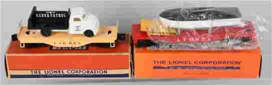 2 - LIONEL CARS No. 6151, 6501 w/ BOXES