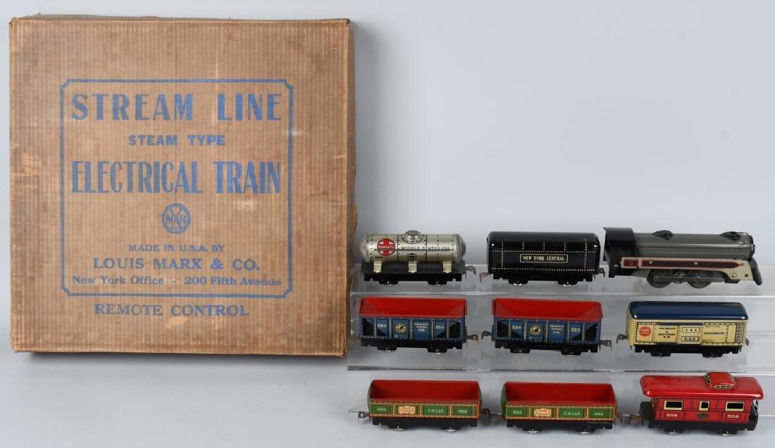 MARX No. 4199 STREAMLINE TRAIN SET w/ BOX