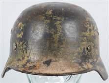 WWII NAZI GERMAN LUFTWAFFE CAMO M35 HELMET
