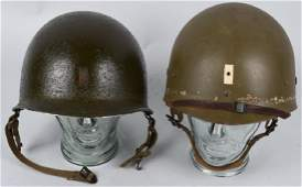 WWII NAMED 509th M1C PARATROOPER HELMET AND LINER
