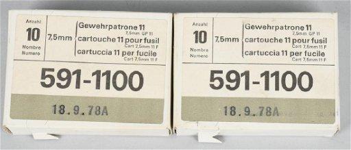 20 RDS BOXED SCHMIDT RUBIN 7.5mm x 55 SWISS AMMO - Jul 13, 2019   Milestone  Auctions in OH
