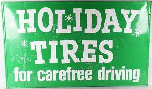 HOLIDAY TIRES TIN SIGN