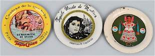 3 FOREIGN ADVERTISING TIP TRAYS