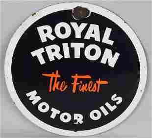 ROYAL TRITON MOTOR OIL PORCELAIN SIGN
