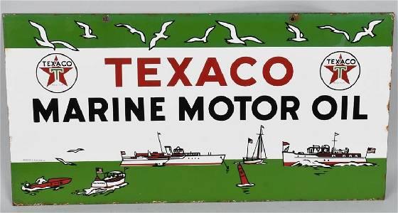 TEXACO MARINE MOTOR OIL DS PORCELAIN SIGN