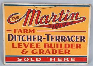 MARTIN FARM MACHINERY CARDBOARD SIGN
