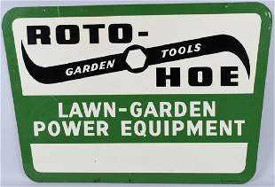 ROTO HOE LAWN GARGEN POWER TOOLS DS TIN SIGN
