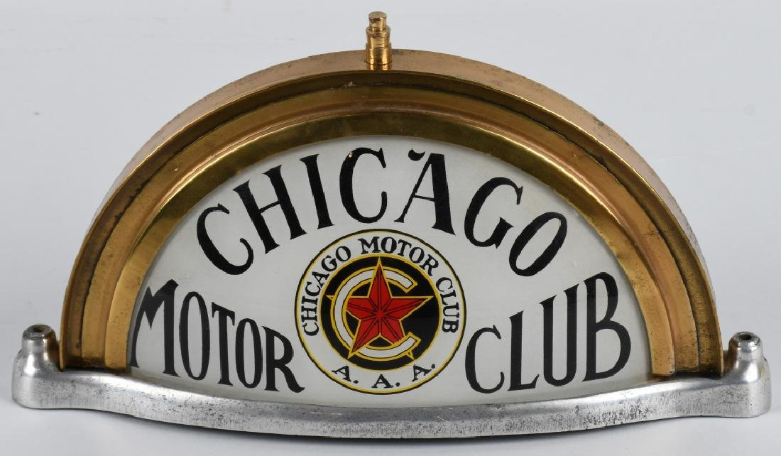 CHICAGO MOTOR CLUB CAR ROOF TOP SIGN