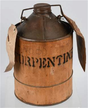 EARLY RAILWAY EXPRESS TURPENTINE CANISTER