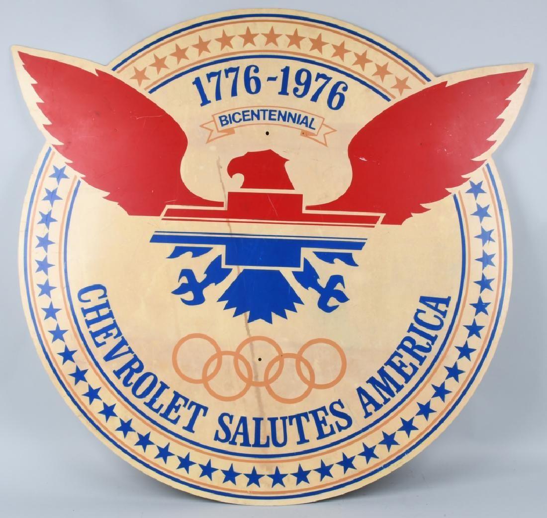 CHEVROLET 1776-1976 BICENTENNIAL SIGN