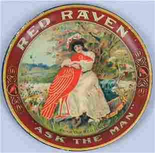 RED RAVEN MINERAL WATER ADVERTISING TIP TRAY