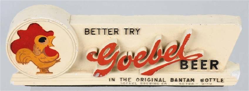 GOEBEL BEER CHALK SHELF SIGN