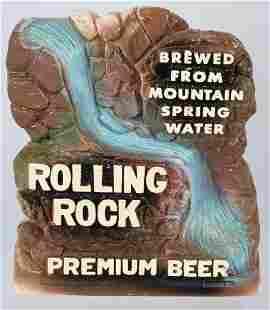 ROLLING ROCK BEER CHALK ADVERTISING FIGURE