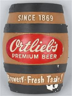 ORTLIEBS BEER BARREL CHALK SIGN