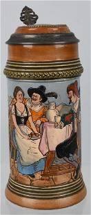 COBLENZ RHEINLAND BEER STEIN WITH GNOME