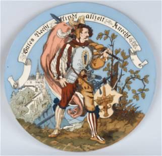 VILLEROY BOCH METTLACH CHARGER 1384 PEASANT WAR