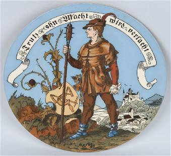 VILLEROY BOCH METTLACH CHARGER 1385 PEASANT WAR